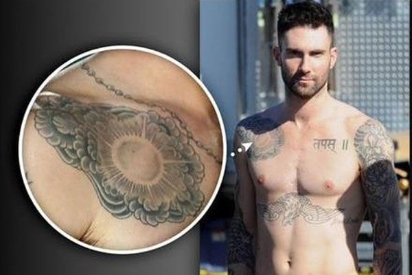 Adam Levine bad tattoo