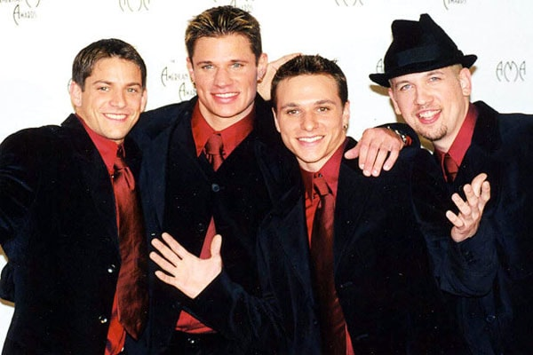Nick Lachey in band, 98 Degrees