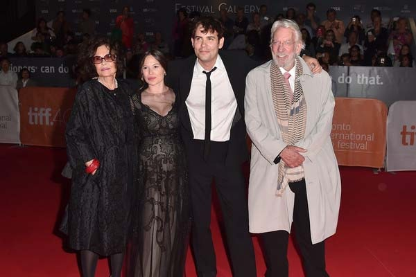 Celina Sinden with husband Rossif Sutherland